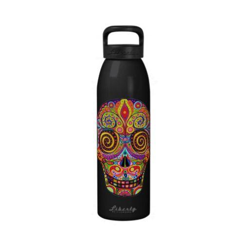 Water Bottle In Spanish: Day Of The Dead Water Bottle