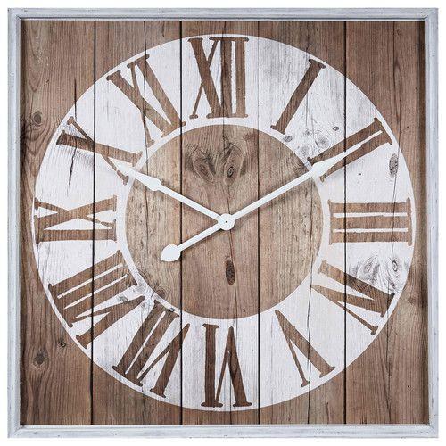 Printed white clock 90 x 90 cm Italy