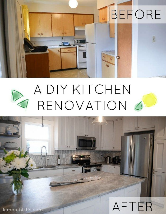 Before And After: DIY Kitchen Renovation | Kitchens, Kitchen Reno And Kitchen  Updates
