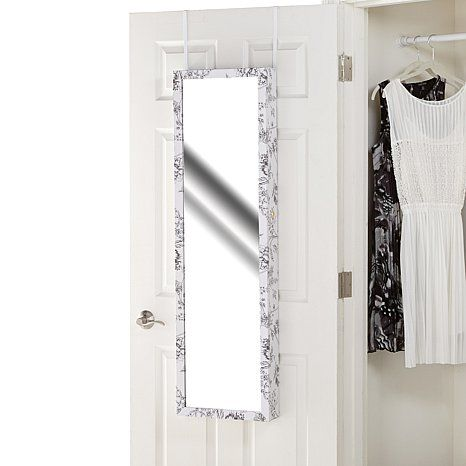Over The Door 48 Quot Jewelry Armoire With Full Length Mirror