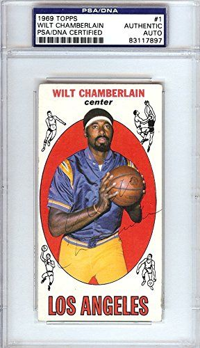 32a2d5626 Wilt Chamberlain Autographed/Hand Signed 1969 Topps Card ...