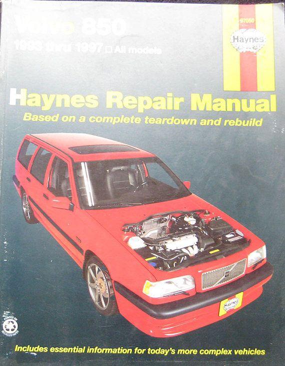 haynes volvo 850 service repair manual 1993 1997 pinterest volvo rh pinterest co uk 2008 Volvo 850 1993 Volvo 940