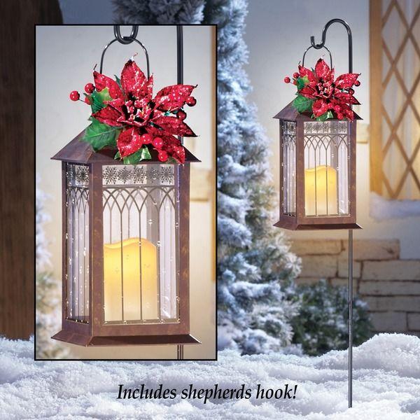 Solar Christmas Lantern With Hanging Hook Post 14 95 Usd