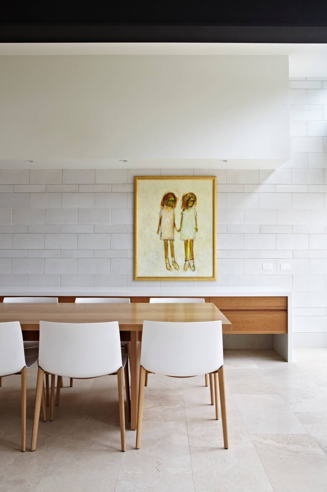 White Dining Chairs · Clayfield House By Adrian Spence
