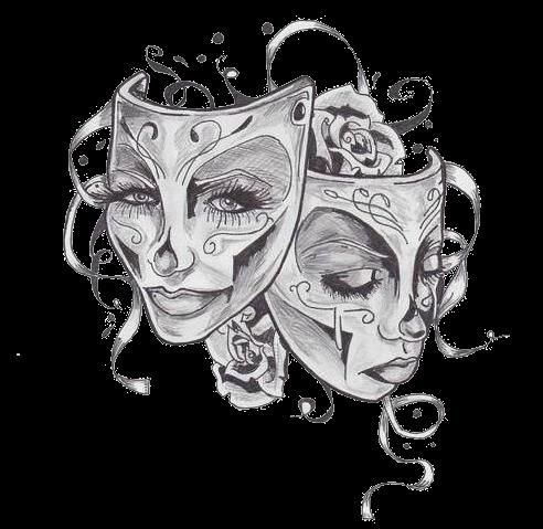 Double Face Tatouage Masque Tatouage Gemeaux Idees De Tatouages