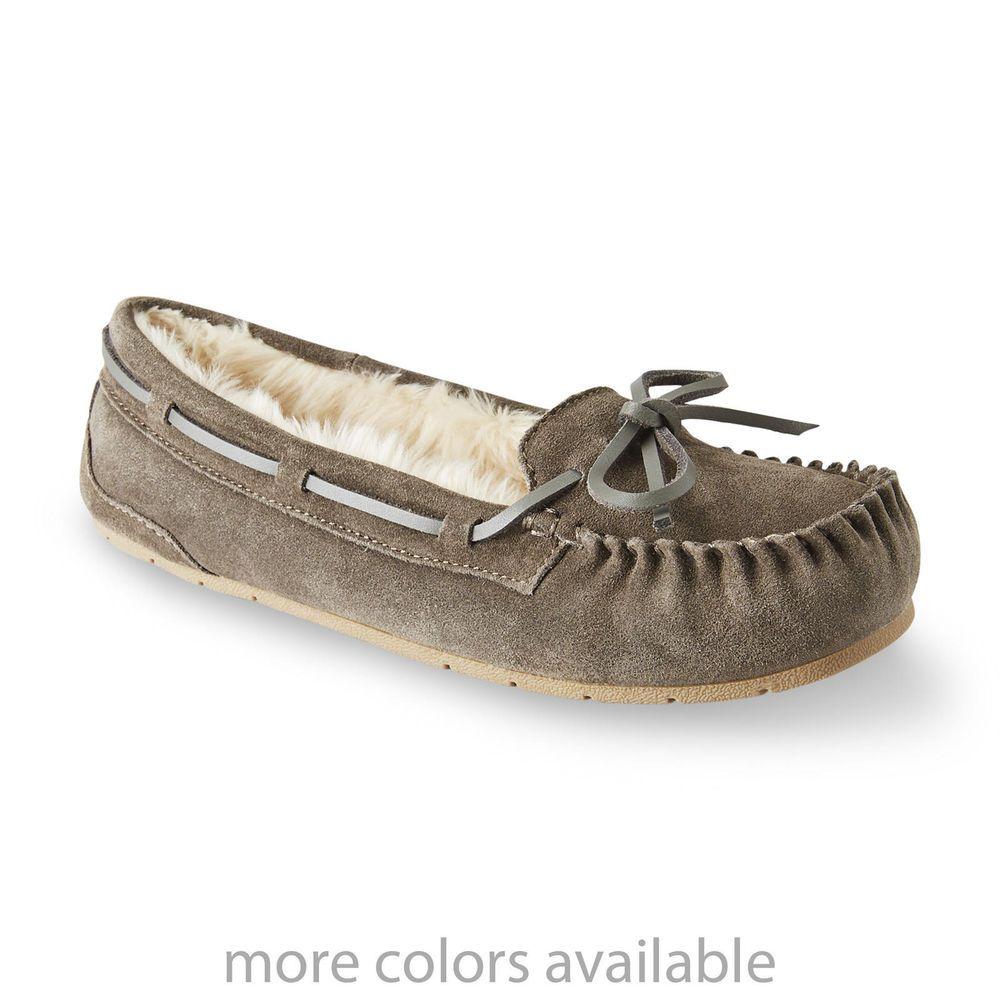 c670e0598ab Bongo Women s Moxie Moccasin Slipper Grey Slip-on Suede upper size 6.5 NEW  19.99 http