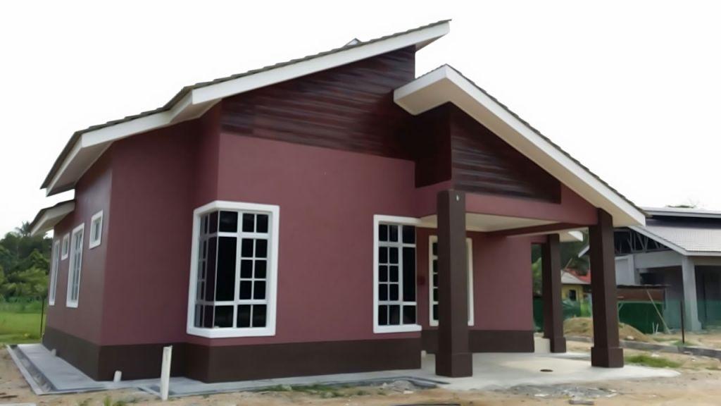 Reka Bentuk Cat Rumah Projek Banglo Satu Tingkat Pasir Tumbuh Kampung Likung Pt 843 Reka Bentuk Rumah House Colors House Home Decor