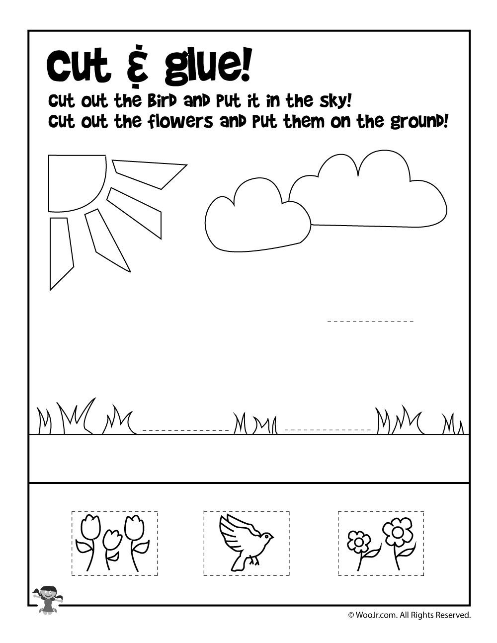 Free Printable Cut And Glue Worksheets