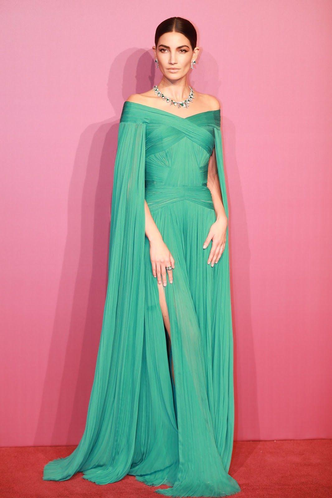 Lily Aldridge, en la fiesta de Bvlgari, con un espectacular vestido ...