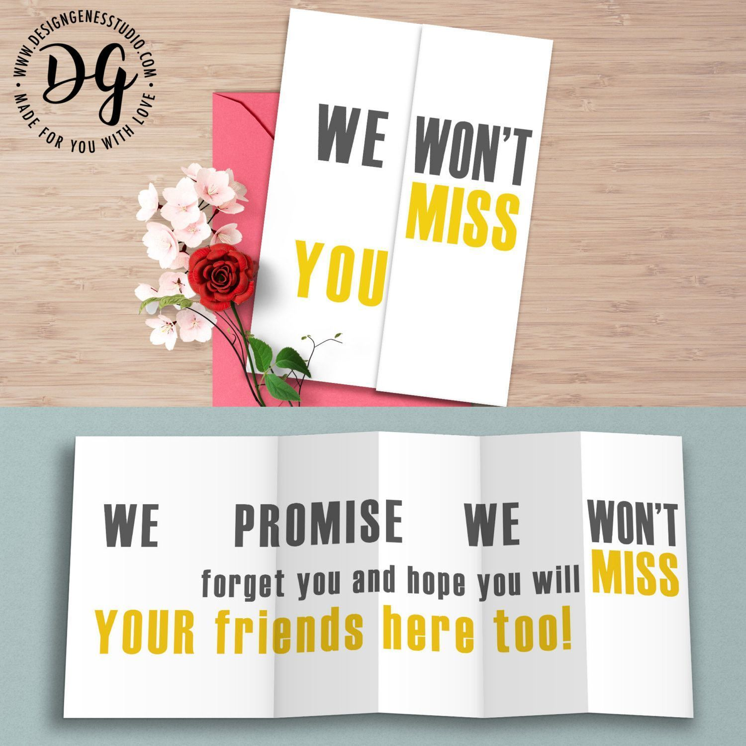 Farewell Message On Greeting Card Farewell Cards Pop Up Card Templates Greeting Cards Quotes