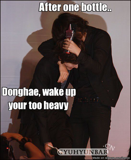 Drunk Donghae.....