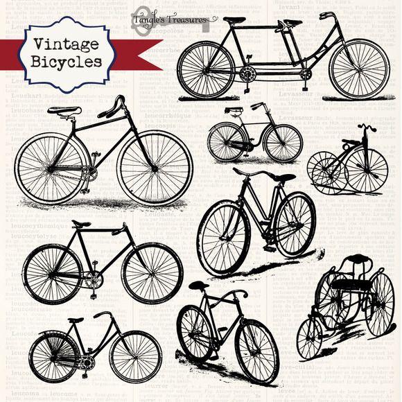Vintage Bicycles Clipart Vintage Bicycles Clip Art Vintage Bicycle