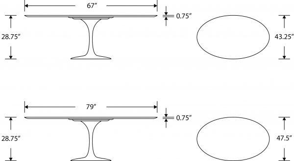 Tulip Table Oval Carrara Rove Concepts Rove Classics