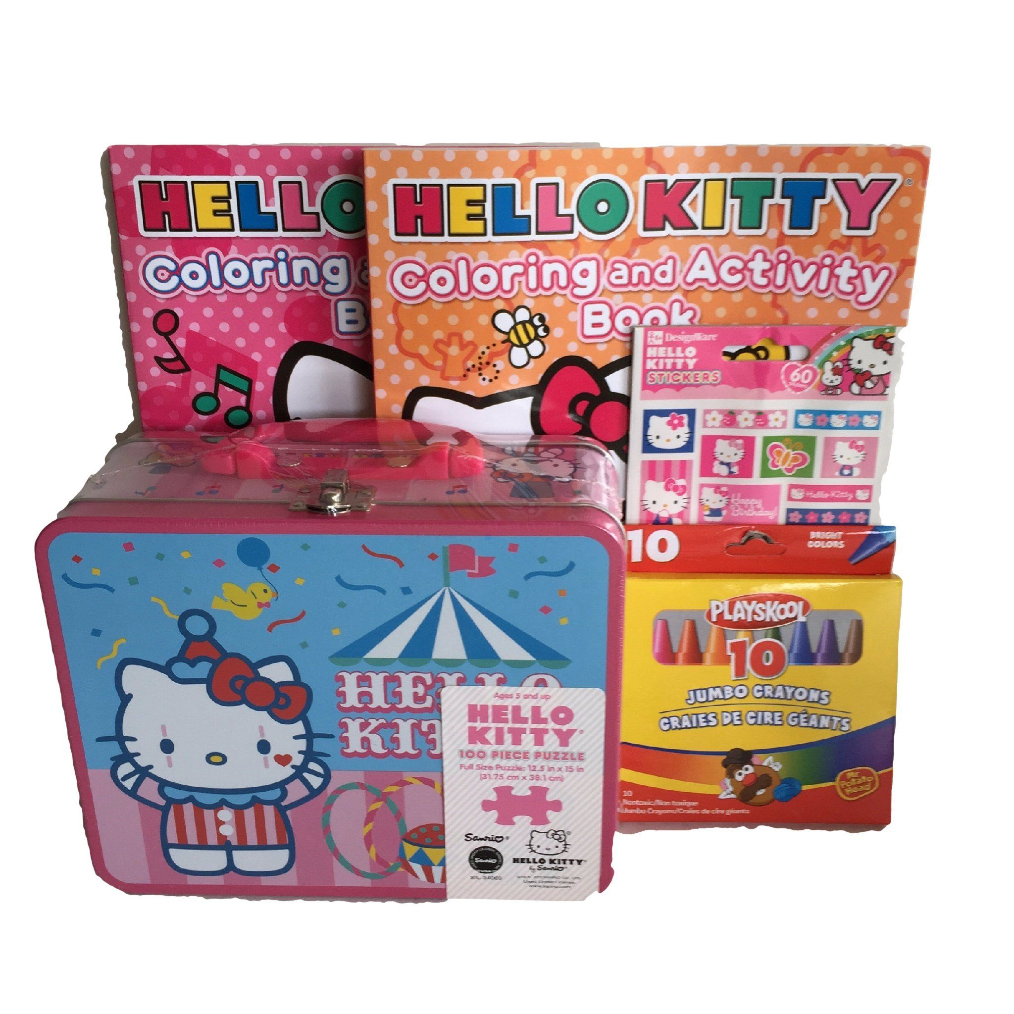 Gift set hello kitty 100 pc puzzle pink lunchbox tin 2