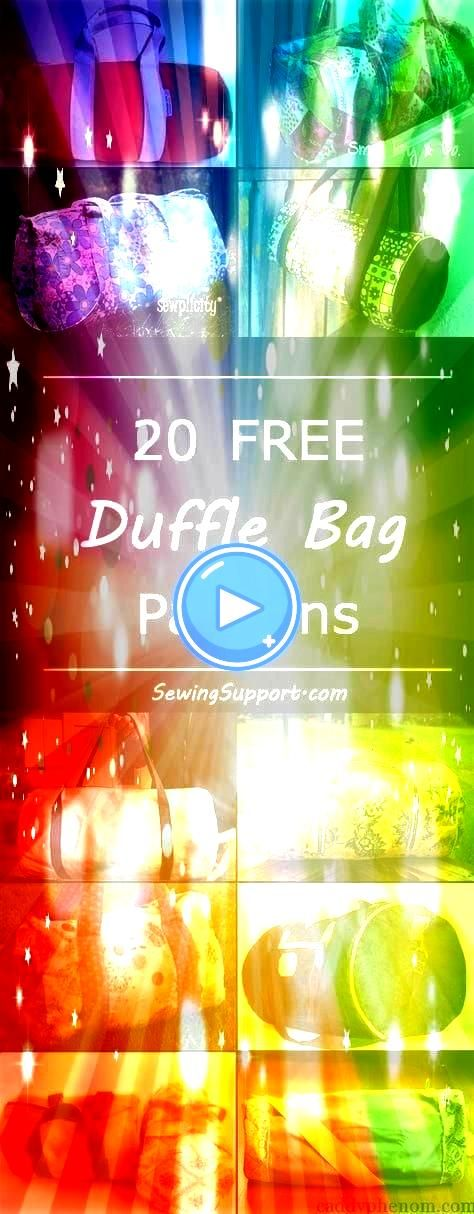 duffel bag diy projects sewing patterns and tutorials Cute bags great dance or gym bags and for kids Free duffle duffel bag diy projects sewing patterns and tutorials Cut...