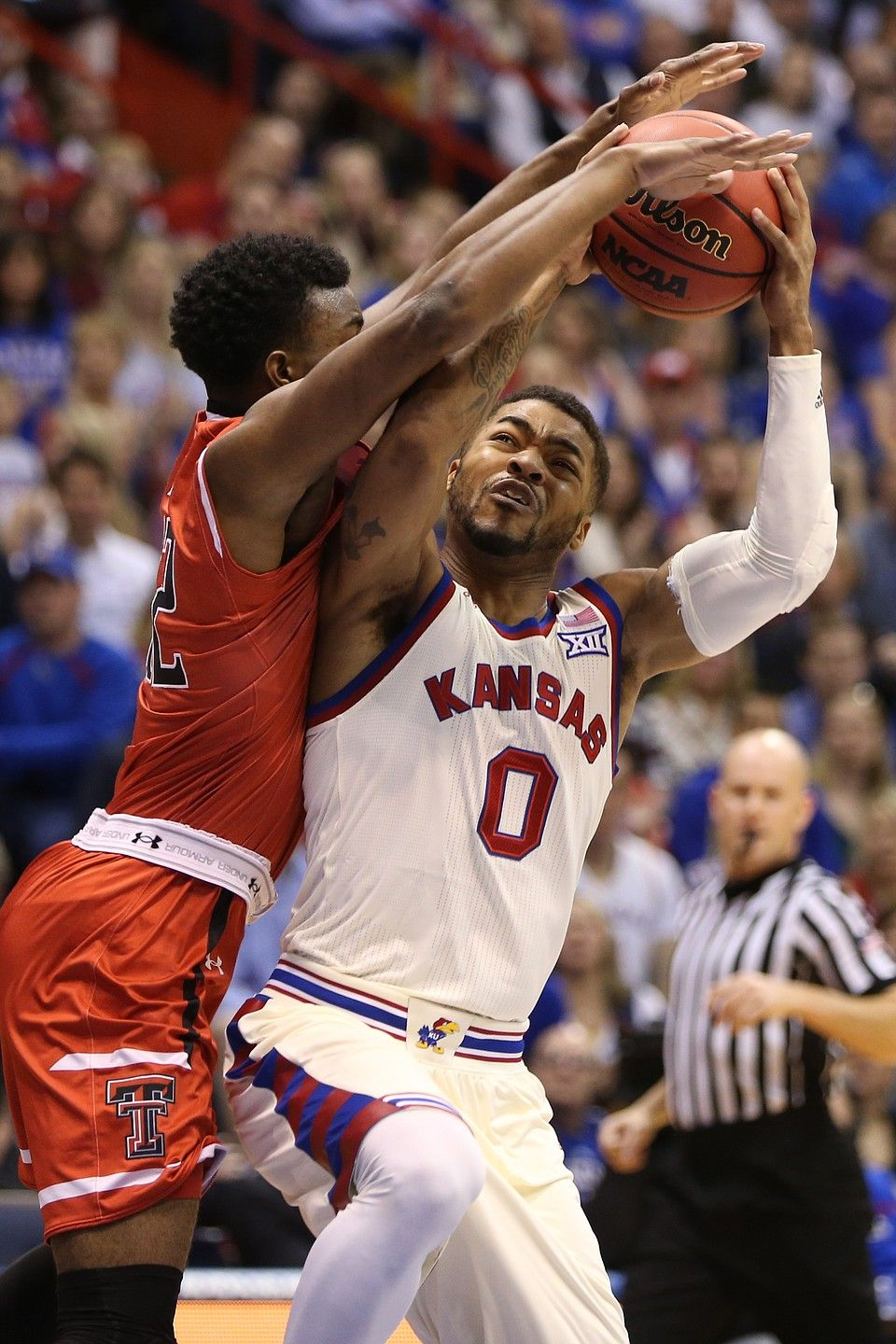 Kansas basketball v. Texas Tech Kansas basketball, Texas