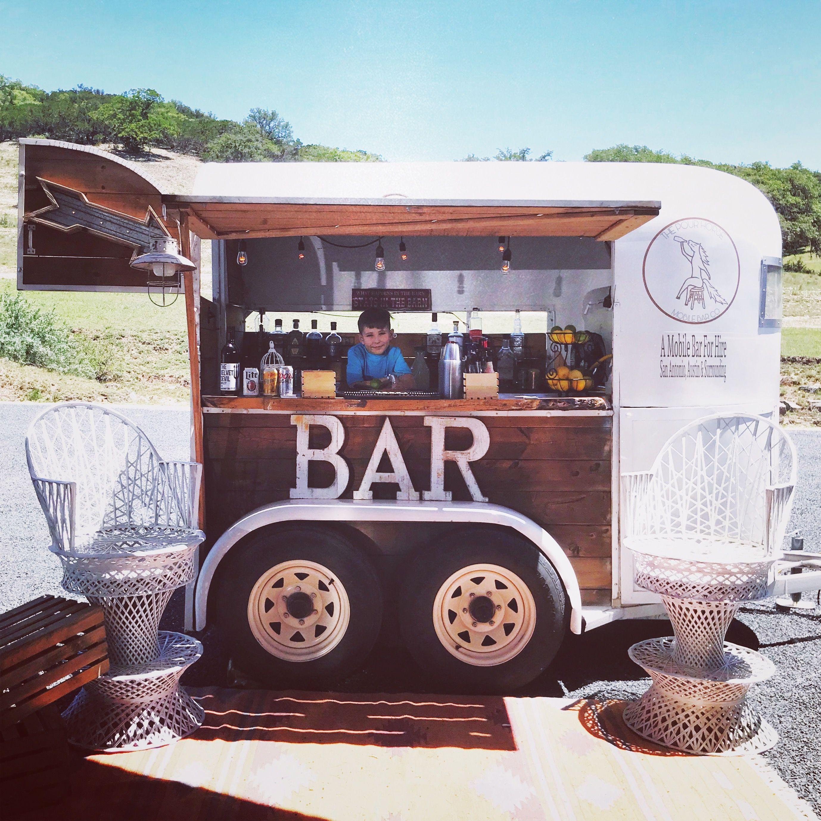 Converted mobile bar ideas, horse trailer bar, coffee bar, dessert ...