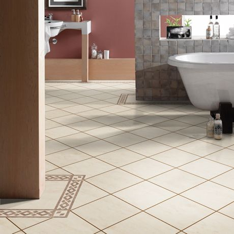 Beautiful Vinyl Bathroom Tiles - available at the Flooring Megastore #bathroom #interior #design