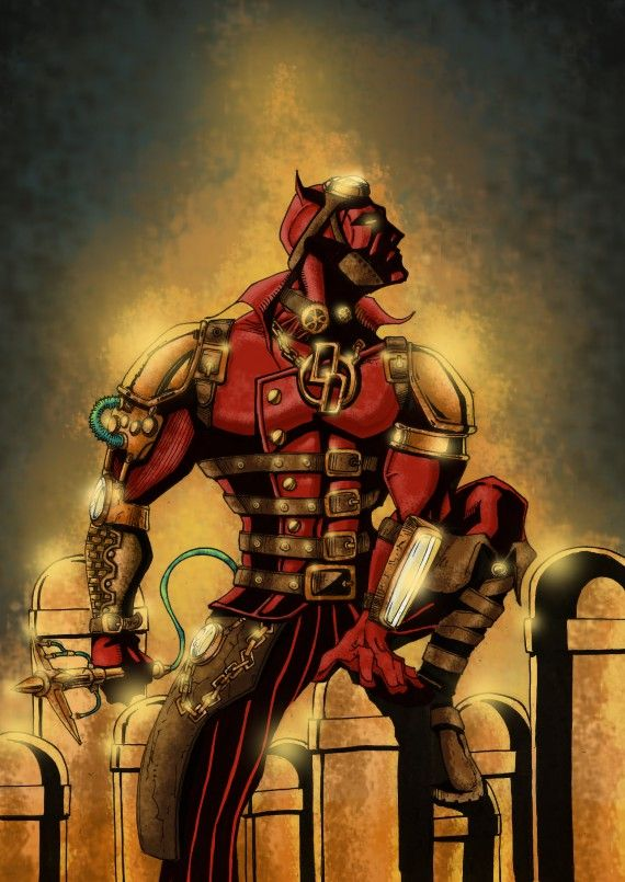The greatest superheroes in steampunk sauce - Daredevil by EAS2