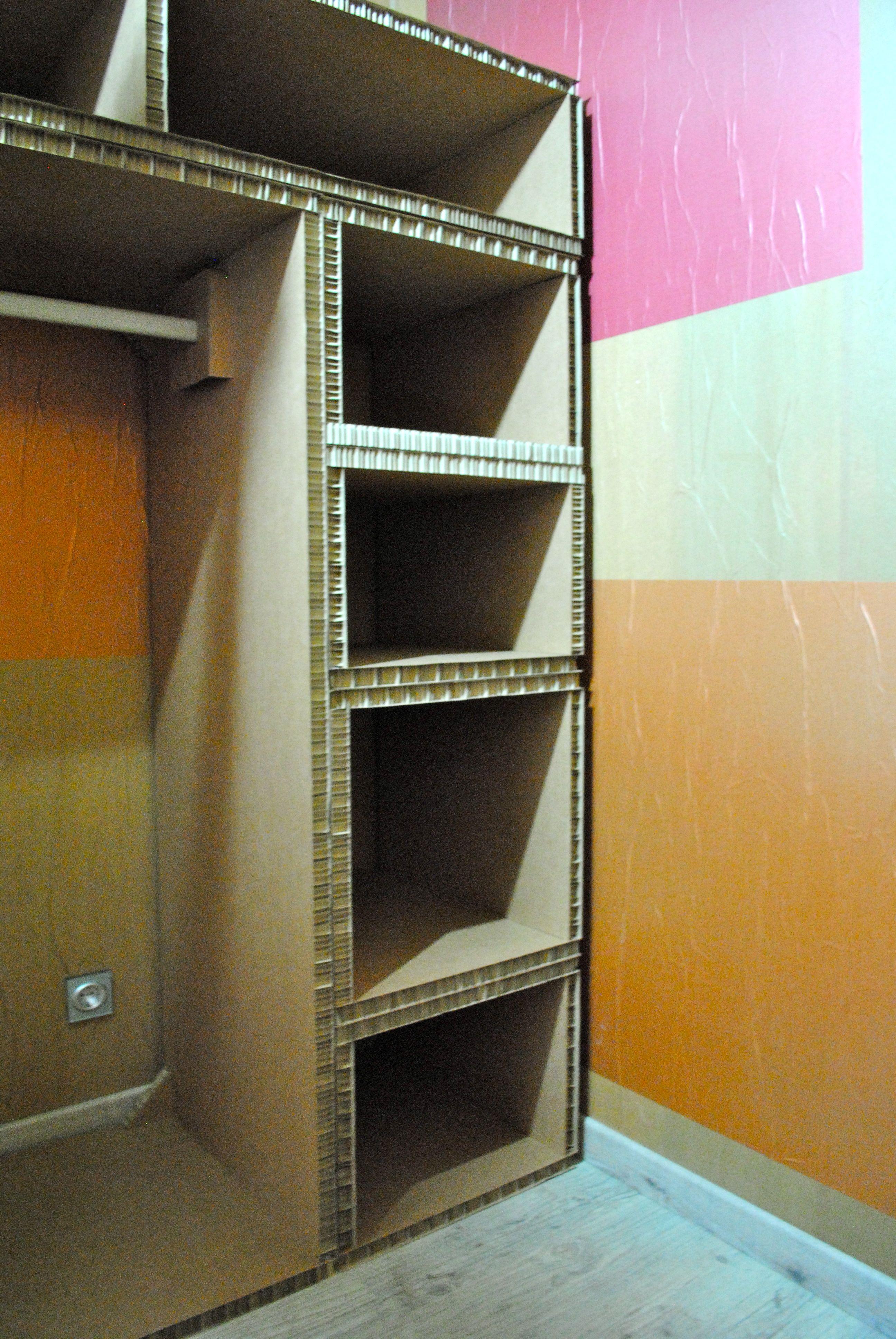 Cardboard Closet Storage Com Imagens Moveis De Papelao Guarda
