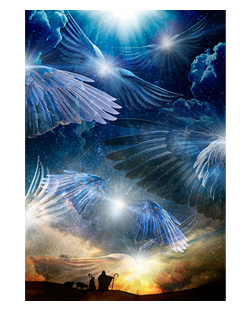 O HOLY NIGHT [canvas]   Angel pictures, Spiritual artwork, Holy night