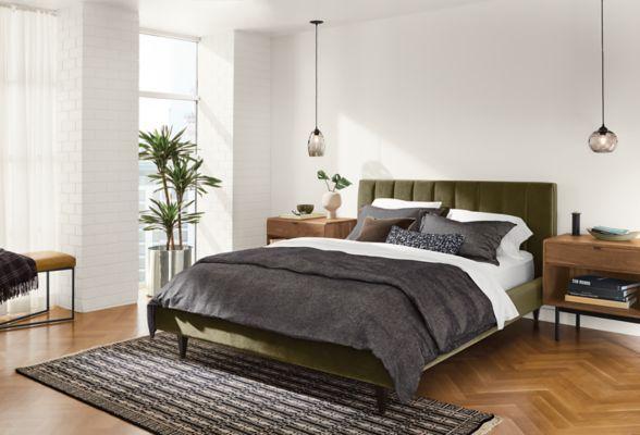 room board hensley nightstands products bed beige pillows room rh pinterest com