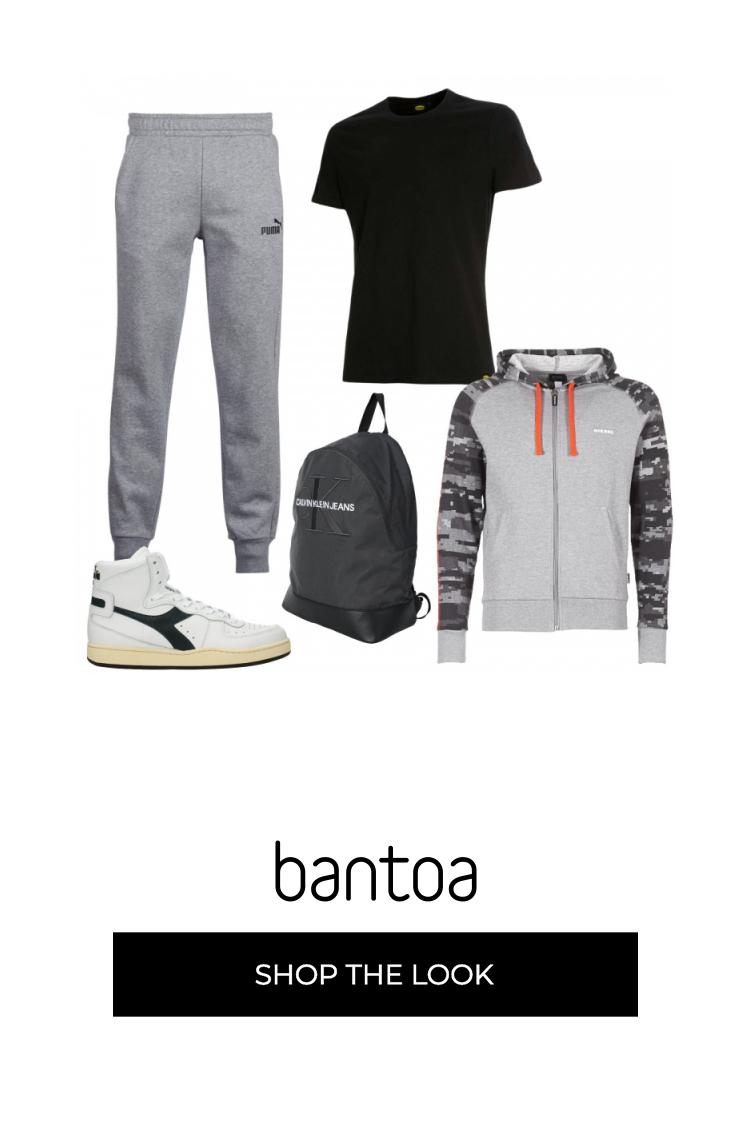Pantaloni jogging, maglietta Diadora, felpa con cappuccio e