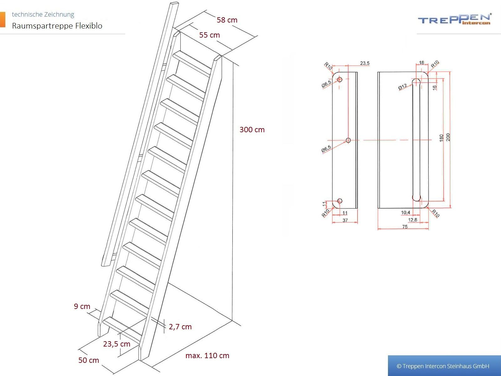 Raumspartreppe easy step hier sofort ab lager treppen for Jugendzimmer zeichnung