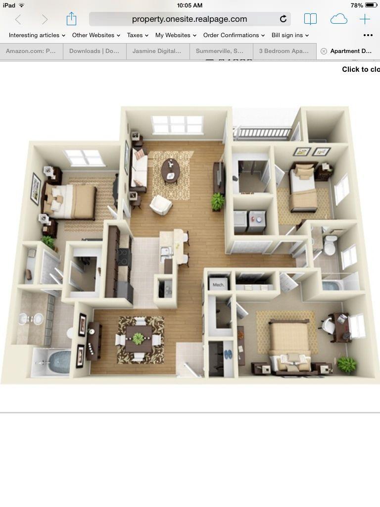 simple 3 bedroom house plans%0A Apt      Floor Plan