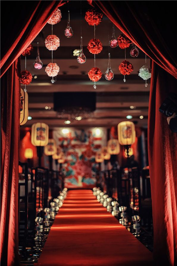 Chinese style wedding red cultureincart