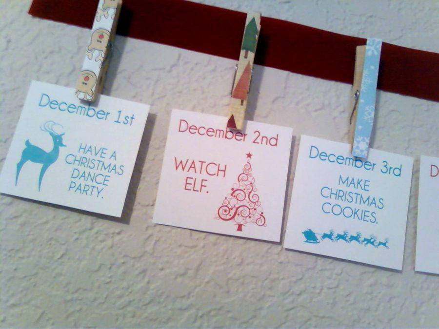 Christmas Countdown Craft More Countdown calendar and Christmas