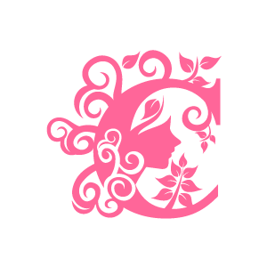 Graphic Design Of Flower Clipart Pink Alphabet C With White Background