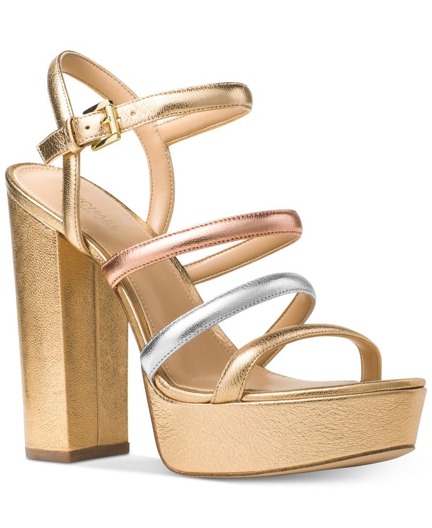 84726f0fb84 Michael Michael Kors Nantucket Platform Sandals