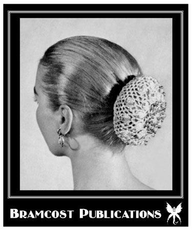 Vintage Bead Trimmed Chignon Cap Bun Cover Crochet Pattern Knit