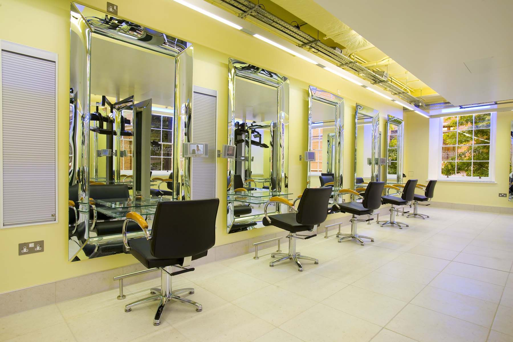 Caadre mirrors Fiam, designed by Philippe Starck, in salon hair ...