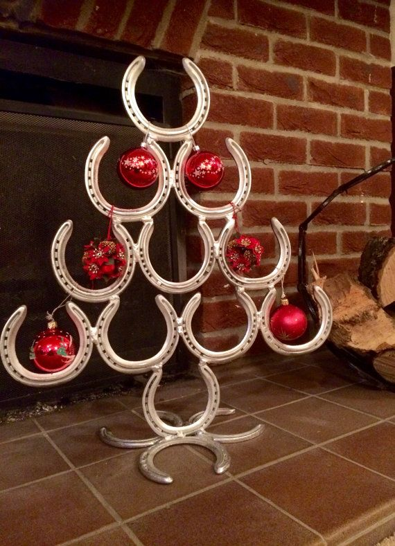 Horseshoe Christmas Tree By Lcbsculpture On Etsy Horseshoe