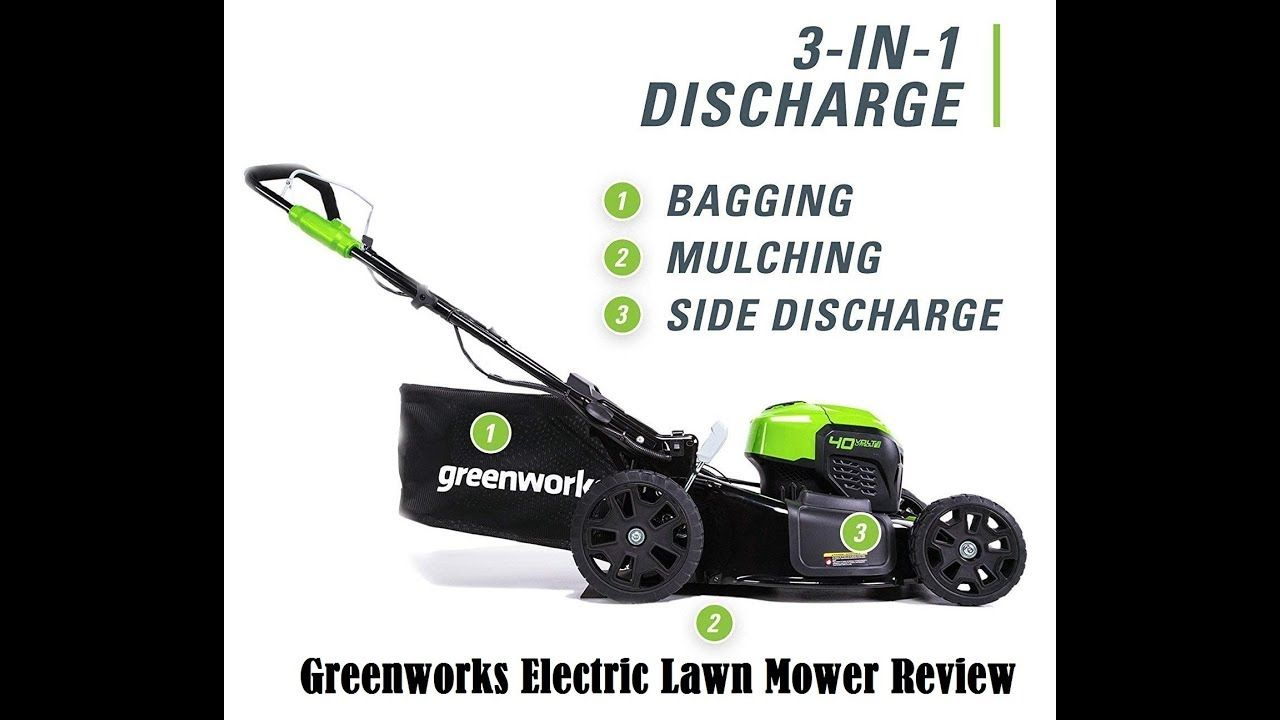 Greenworks Electric Lawn Mower Review Greenworks Lawn Mower