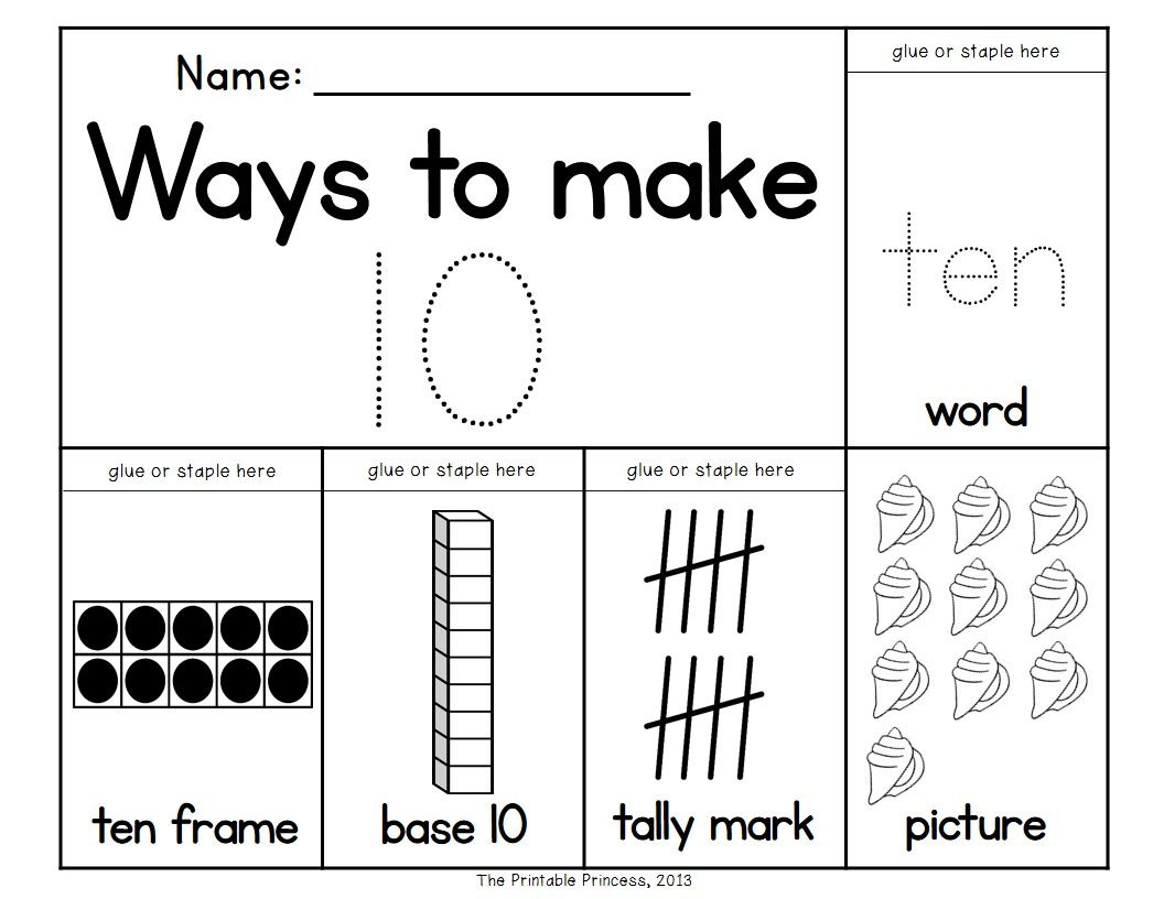 Number Books Number Recognition Activities 1