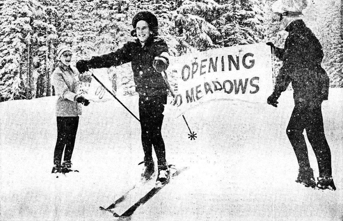 1948 olympic gold medalist gretchen fraser officially opens mt hood rh pinterest com
