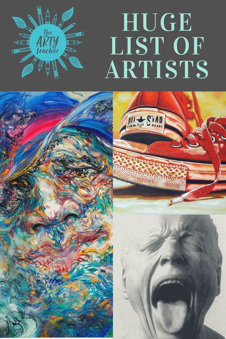 A huge list of artists listed by theme created for Art Teachers! #teachingart #artist #arthistory #arteducation