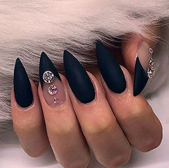Photo of The best models of black Stiletto nails for your Halloween; # AcrylicNa …