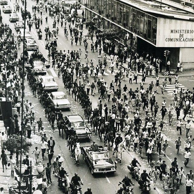 Visita del presidente de Francia general Charles De Gaulle a Caracas, 21 de septiembre de 1964 / Presidente of France, Gral. Charles de Gaulle arrives to Caracas, septembre 27th, 1964