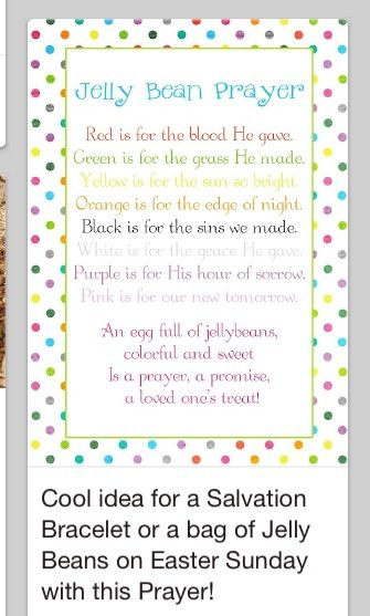 Easter idea easter pinterest easter holidays and crafts a pocket full of lds prints jelly bean prayer poem easter freebie used this for my primary class and for my young women this year negle Choice Image