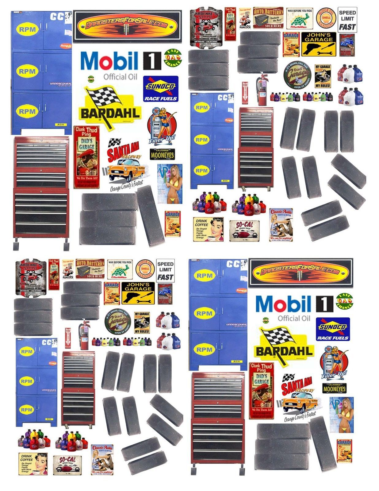1:24th GARAGE SHOP DECALS FOR DIECAST & MODEL CAR DIORAMAS ...