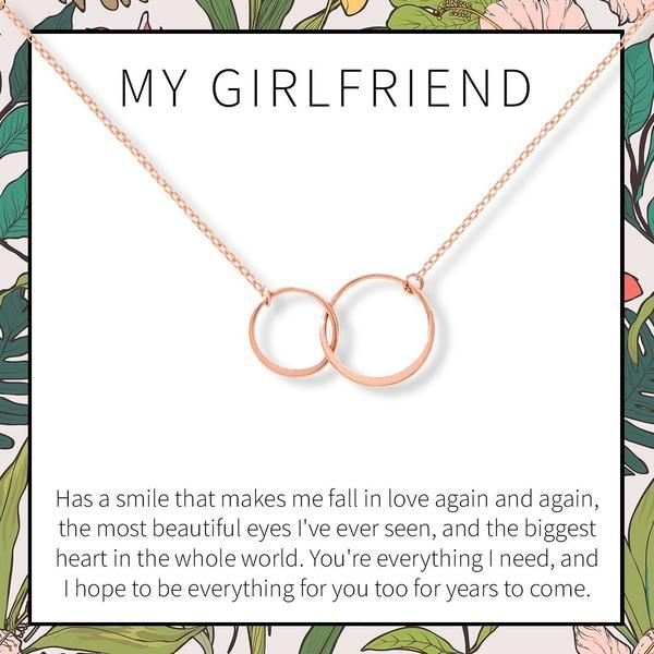 Birthday 2 Asymmetrical Circles Valentines Day Dear Ava Gift for Girlfriend Necklace: Anniversary