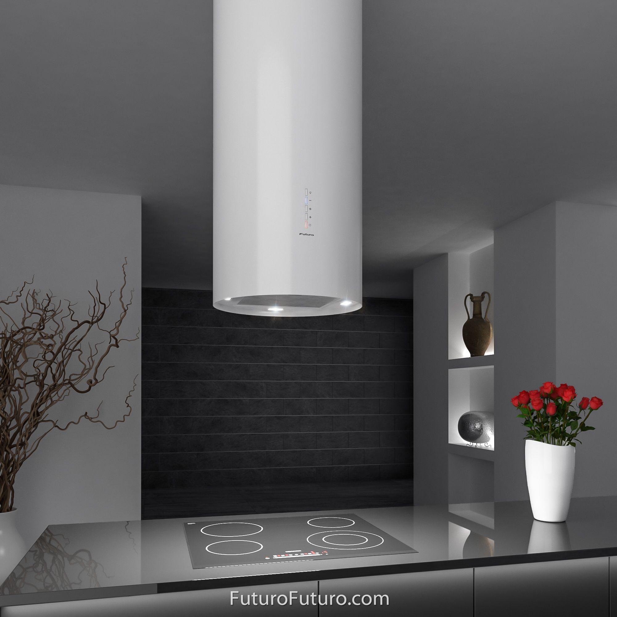 designer italian kitchen range hood jupiter white island model rh pinterest com