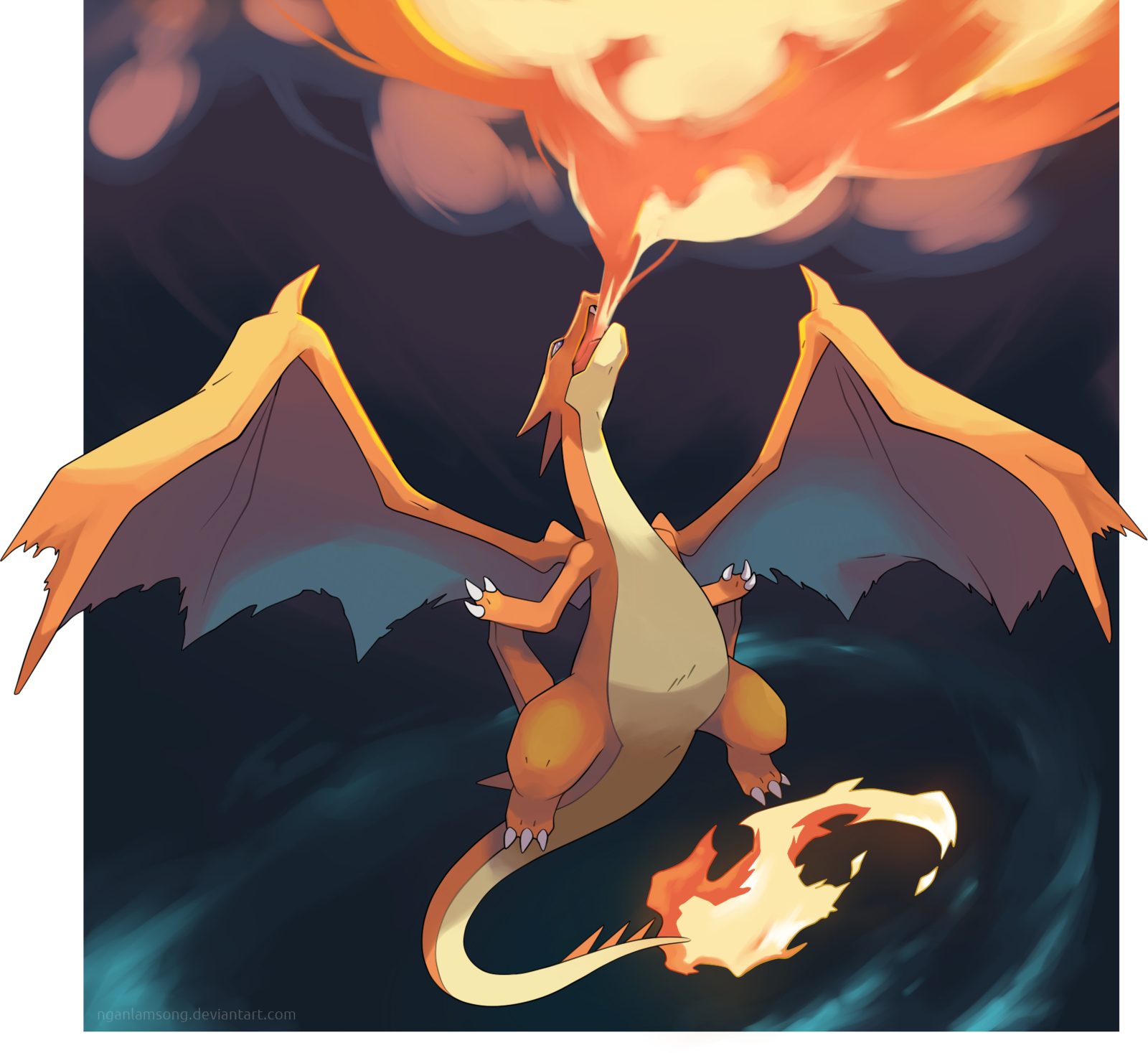 mega charizard y the rise of lizardon by nganlamsong deviantart