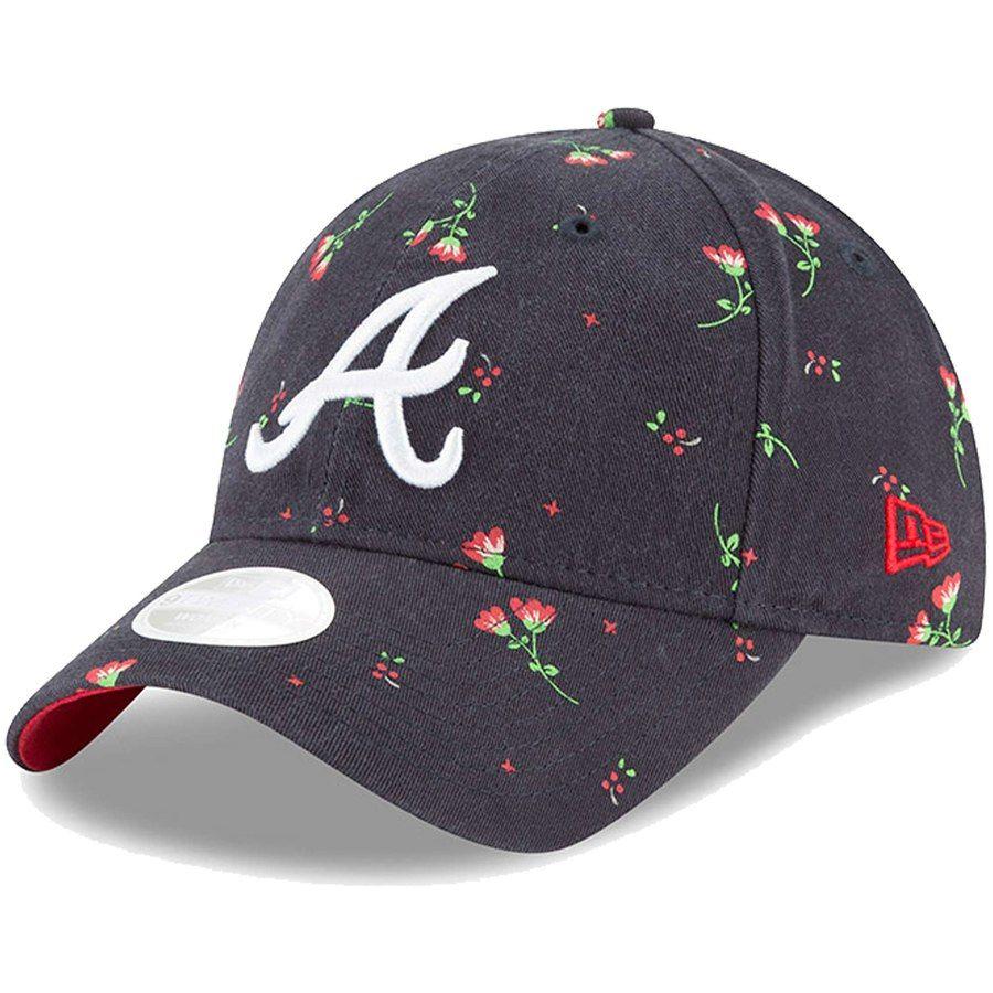 Women S Atlanta Braves New Era Navy Blossom 9twenty Adjustable Hat Your Price 23 99 Atlanta Braves Hat Braves Hat Braves Shirts