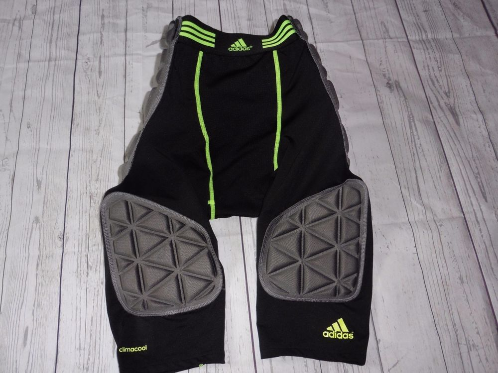 Adidas men m black neon green compression climacool padded