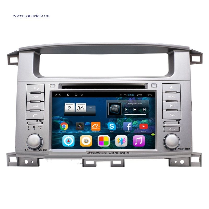 7 Quad Core Android Autoradio Headunit Car Multimedia Head Unit Stereo Gps Navigation Lc100 Toyota La Toyota Land Cruiser Land Cruiser Toyota Land Cruiser 100